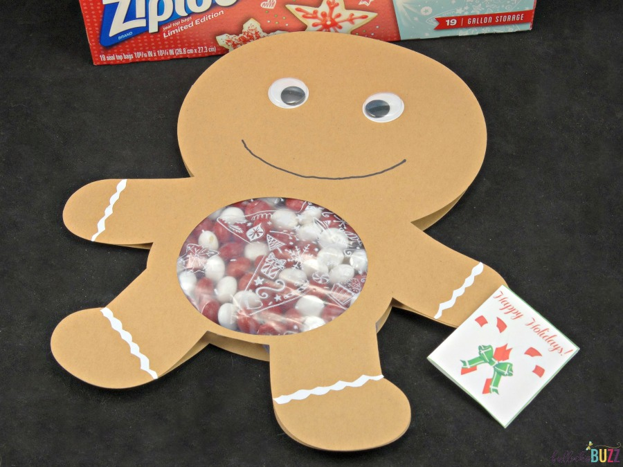 Ziploc Holiday Bags Gingerbread Man Candy Card finished