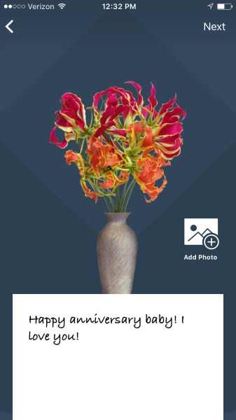 flowerling app flowers to send with note
