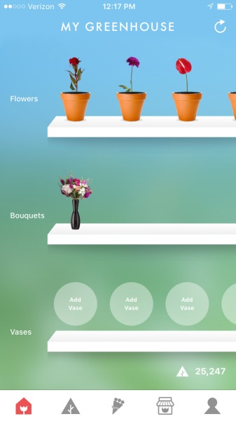 flowerling app my greenhouse