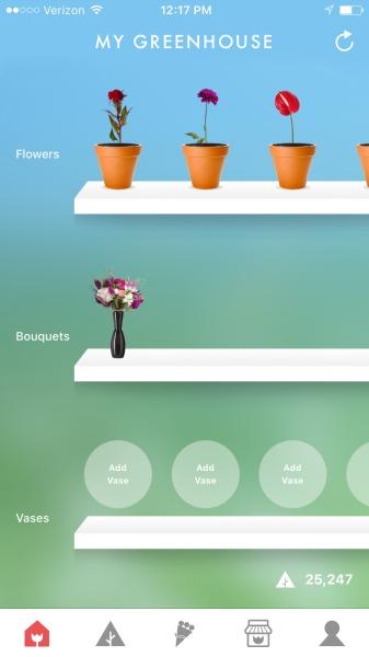 flowerling app my greenhouse