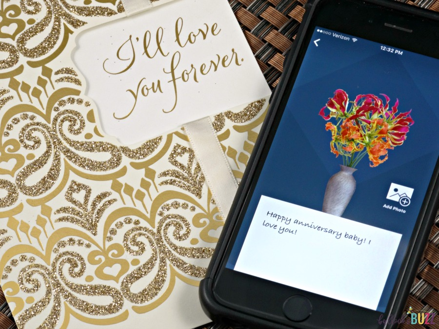 flowerling app card and app message