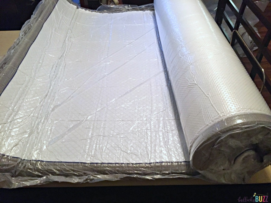 nectar mattress before removing final plastic layer