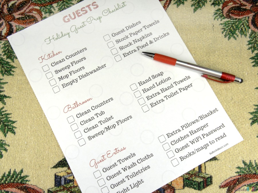 preparing your home for holiday houseguests printable checklist free