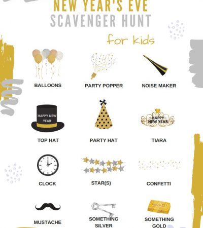 New Year's Eve Scavenger Hunt for Kids – Free Printable