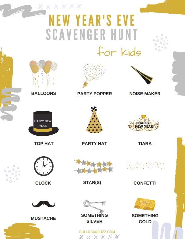 Need an activity to help keep the kids entertained during your New Year's Eve celebration? Use our free printable New Year's Eve Scavenger Hunt for Kids! A fun-filled activity that requires no prep at all.