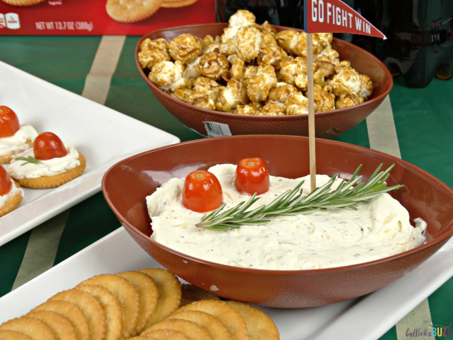 The herbed cream cheese in this game day recipe makes a great dip too!
