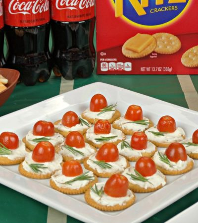 Rosemary, Tomato & Herbed Cream Cheese Bites – Game Time Recipe!