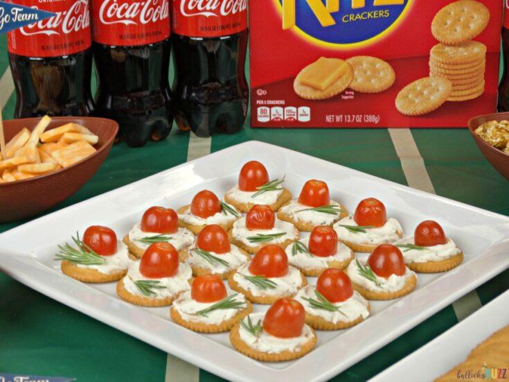 Rosemary, Tomato & Herbed Cream Cheese Bites