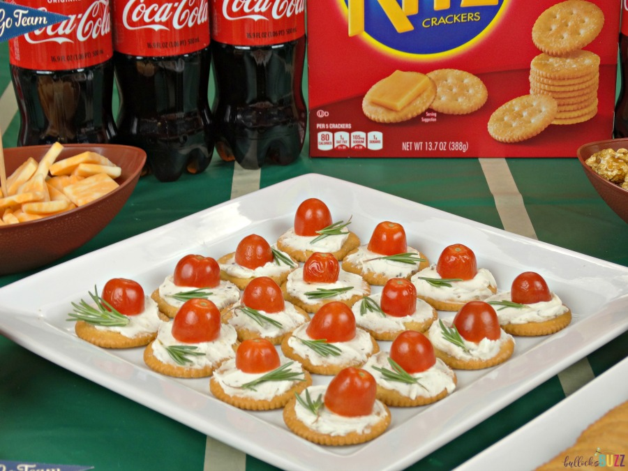 Rosemary, Tomato & Herbed Cream Cheese Bites are a simple yet delicious game day recipe that is perfect for any occasion!