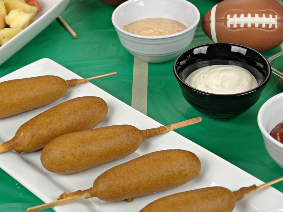 tailgating appetizers include corndogs
