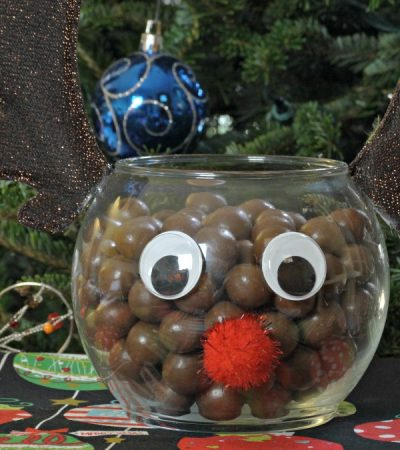 DIY Rudolph Christmas Candy Jar – A Simple Christmas Craft