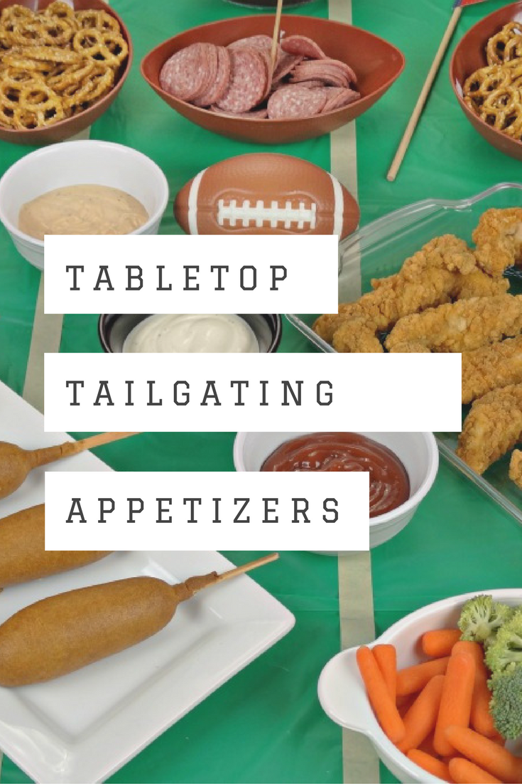 Tabletop tailgating appetizers and a game day dip recipe for Easy tailgating recipes for a crowd