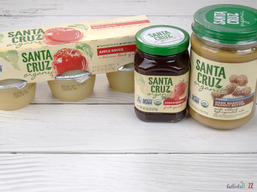 Valentine's Day Lunch for Kids Santa Cruz Organics Peanut Butter, Jelly and Apple Sauce