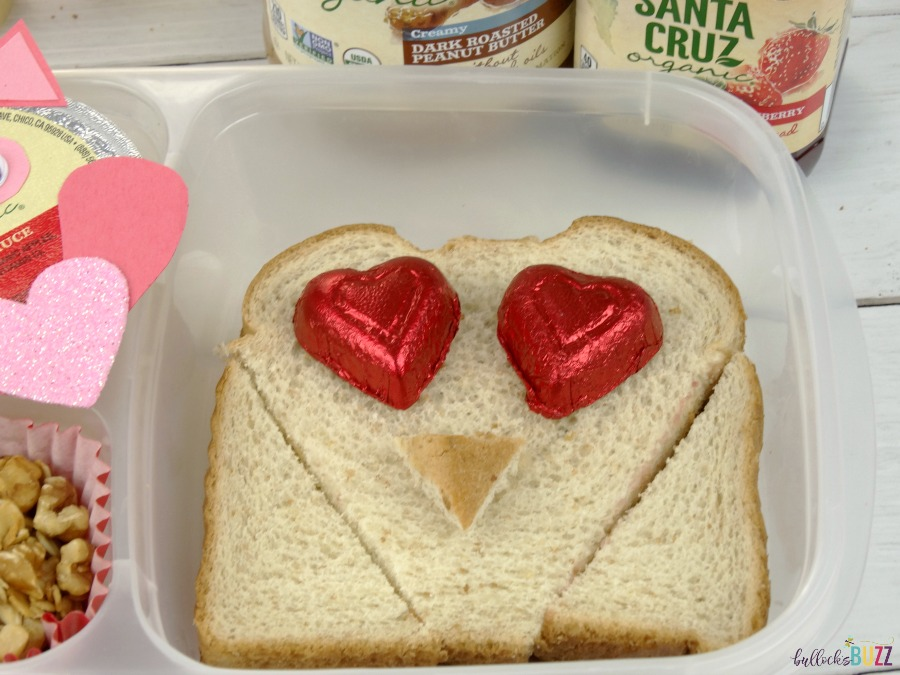 Valentine's Day Lunch for Kids PB&J Owl Sandwich