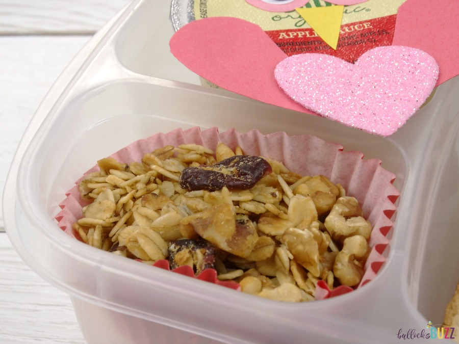 Valentine's Day Lunch for Kids organic granola in cupcake wrapper