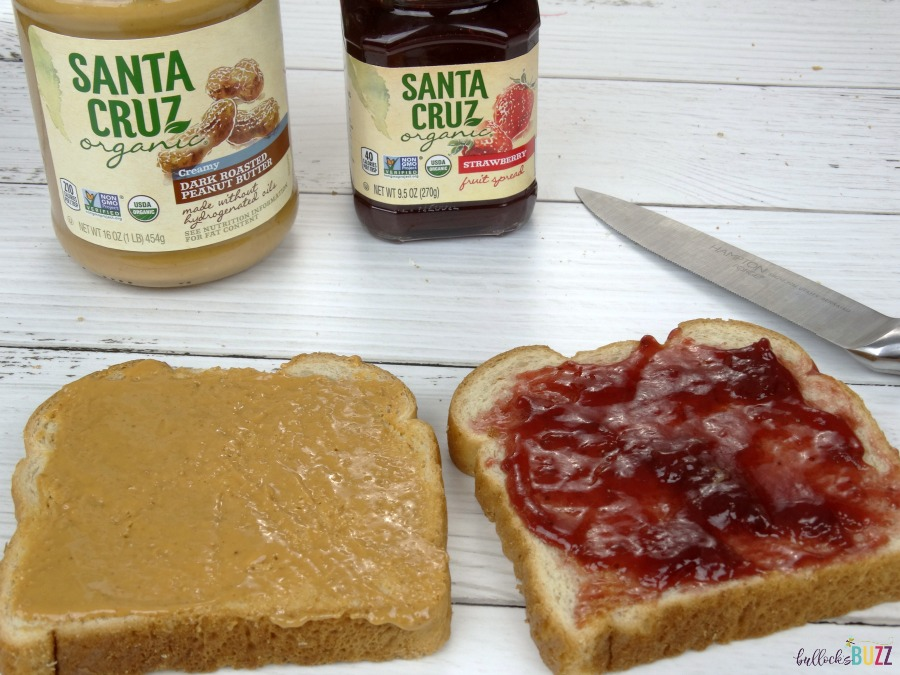 Valentine's Day Lunch for Kids PB&J with Santa Cruz Organics