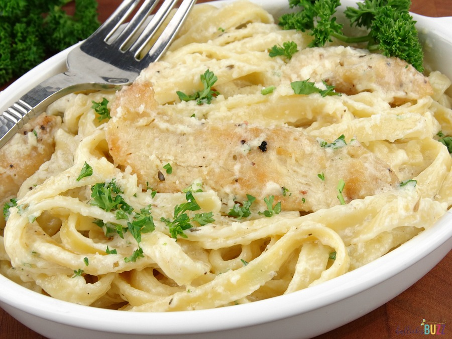 Chicken Fettuccine Alfredo with Homemade Alfredo Sauce is an easy weeknight recipe