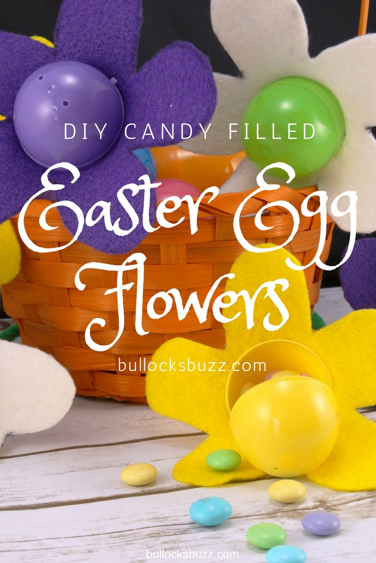 These DIY Candy-Filled Easter Egg Flowers make a sweet addition to your Easter Basket!