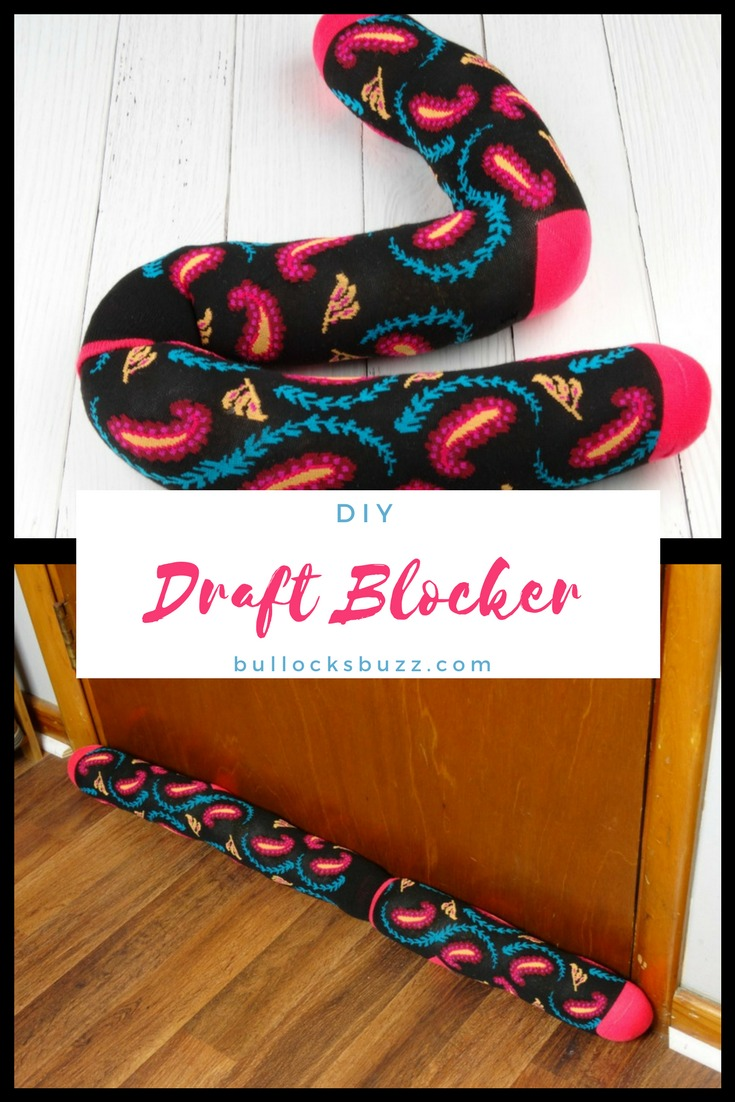 This DIY Draft Stopper is a quick and easy way to keep warm air where it belongs - inside!
