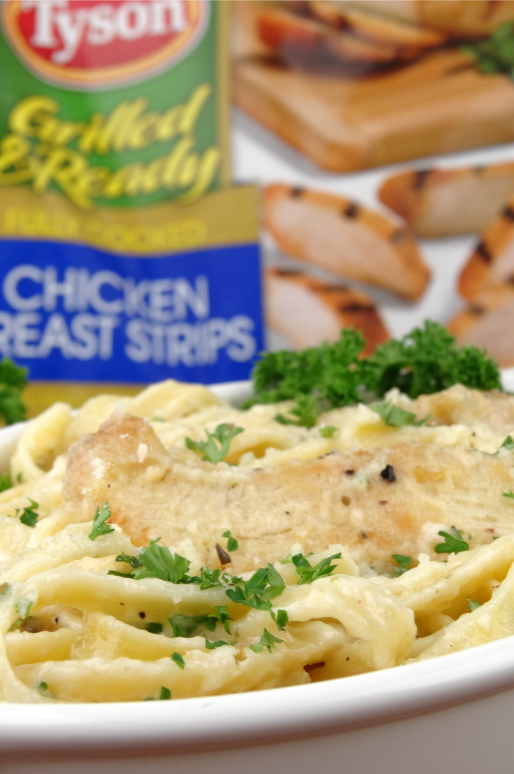 Chicken Fettuccine Alfredo with Homemade Alfredo Sauce recipe