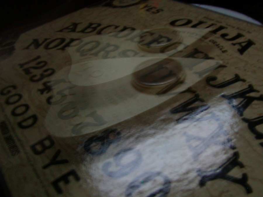 ouija board close up