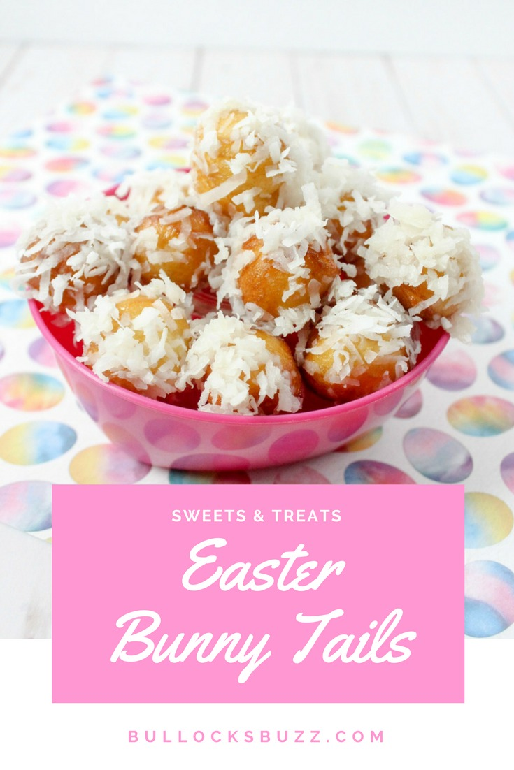 Sweet donut rounds made from refrigerated biscuits are dipped in a homemade glaze then rolled in coconut to make these incredibly cute Bunny Tails. Quick, easy and adorable, this Bunny Tails recipe is sure to become one of your favorite Easter and springtime treat!