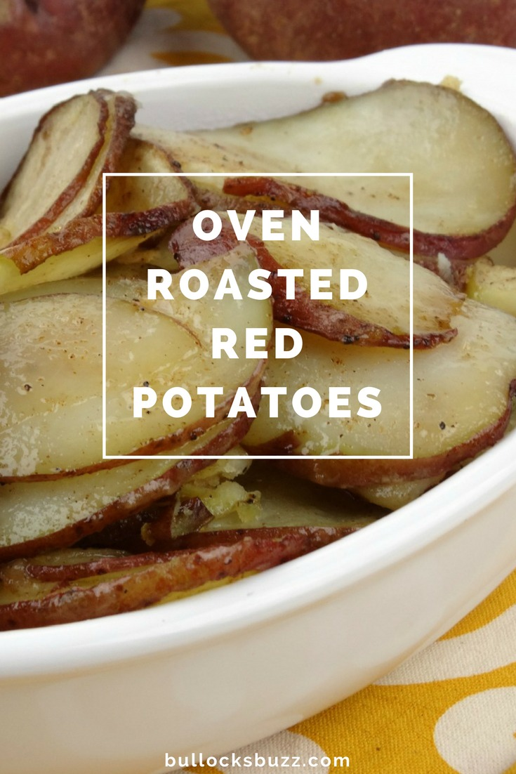 Red potatoes are tossed with olive oil, paprika, salt and pepper, then roasted to perfection. They are Oven Roasted Red Potatoes at their very best! #recipe #roastedpotatoes #sides #sidedishes