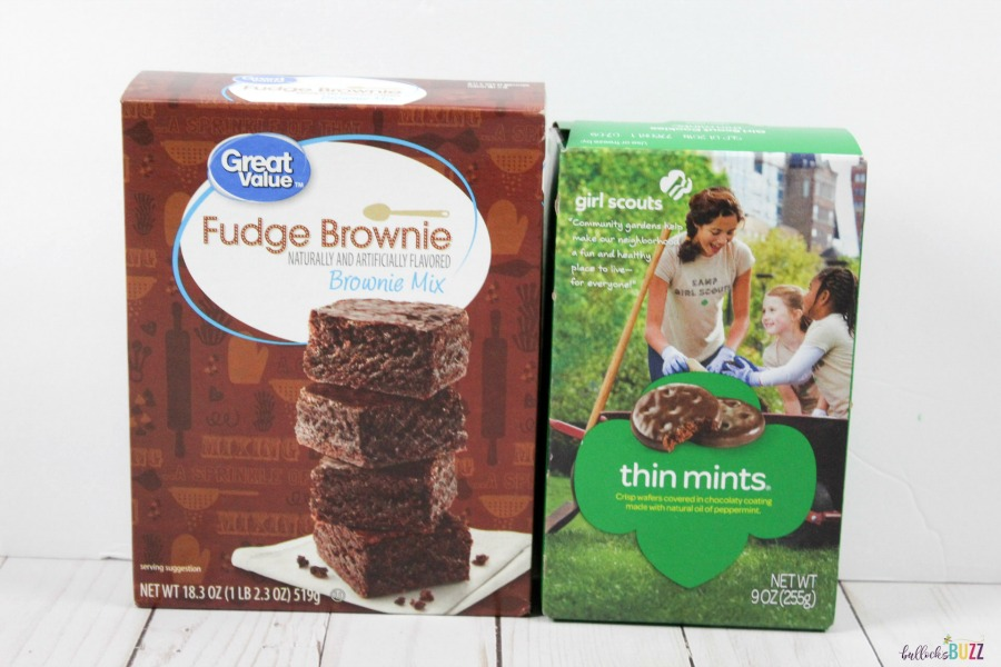 Ingredients to make Thin Mint Brownies