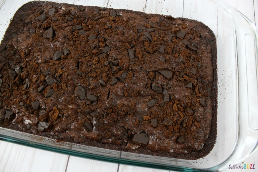 Bake Thin Mint Brownies for 20 minutes