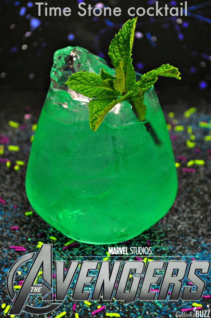 Become a hero in your own right when you serve up this tasty Avengers Cocktail, the Time Stone. This smooth and delicious Marvel Avengers-inspired cocktail is perfect for movie watching parties, and it's easy-to-make, too.