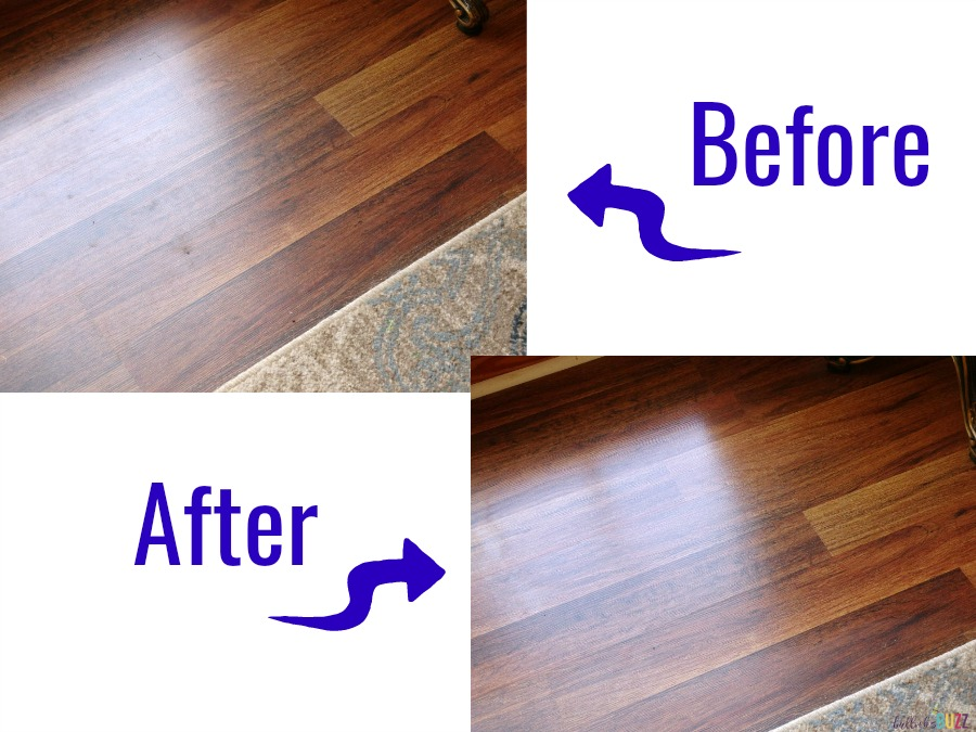 cleaning laminate floors before and after with Bona