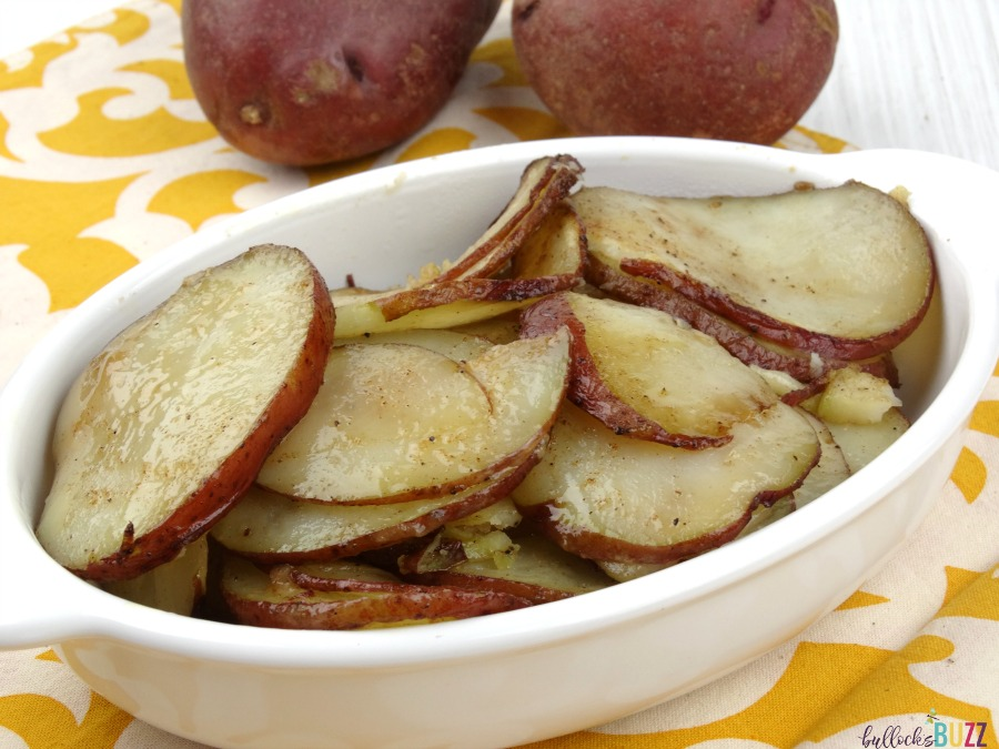 Serve these Oven Roasted Red Potatoes as a side dish along with your favorite protein.