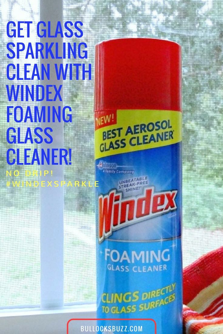 New Windex Foaming Cleaner makes cleaning vertical surfaces a cinch!