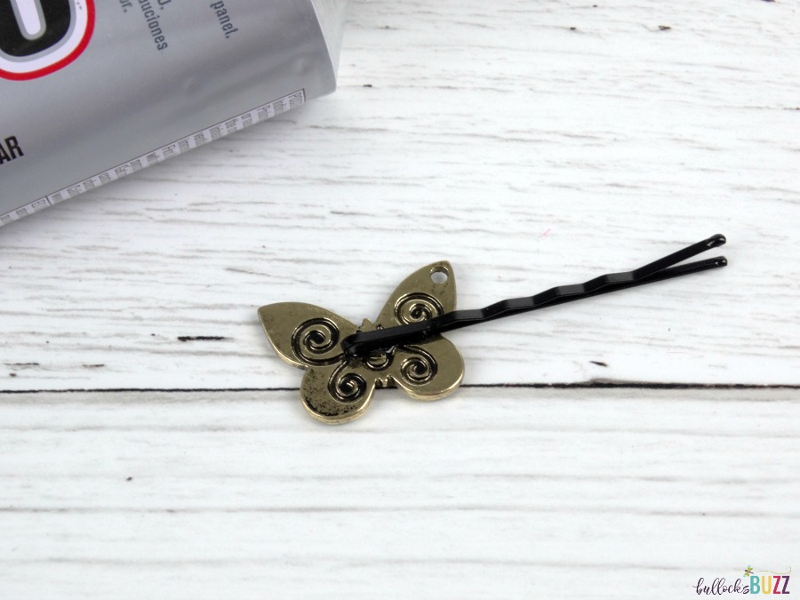 DIY Bobby Pins add trinket and allow to dry