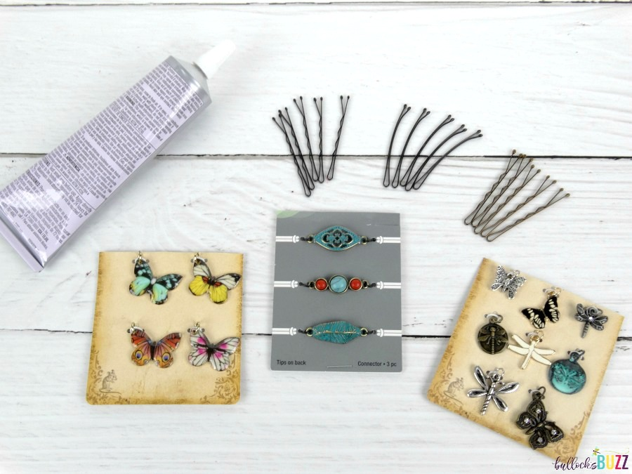 DIY Bobby Pins supplies