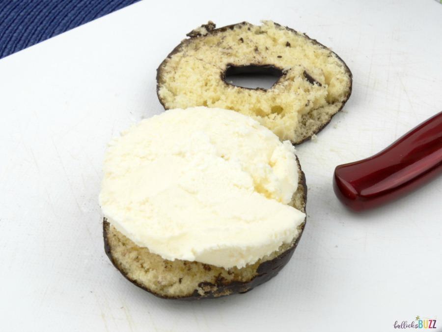 DIY Donut Ice Cream Sandwich add ice cream