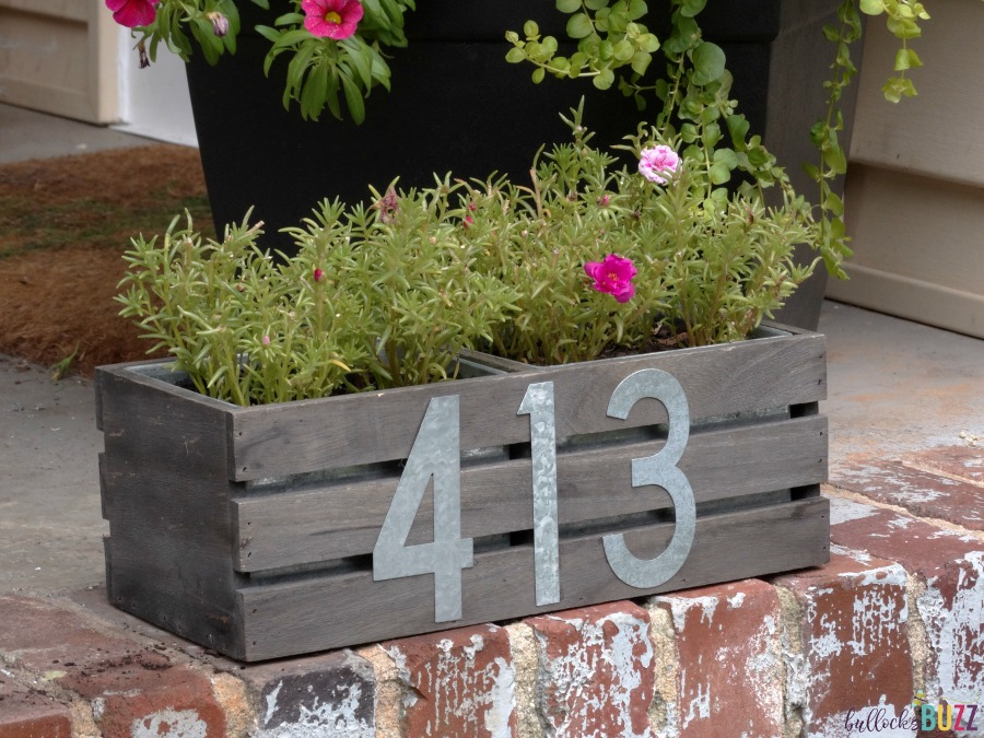 DIY House Number Planter 2