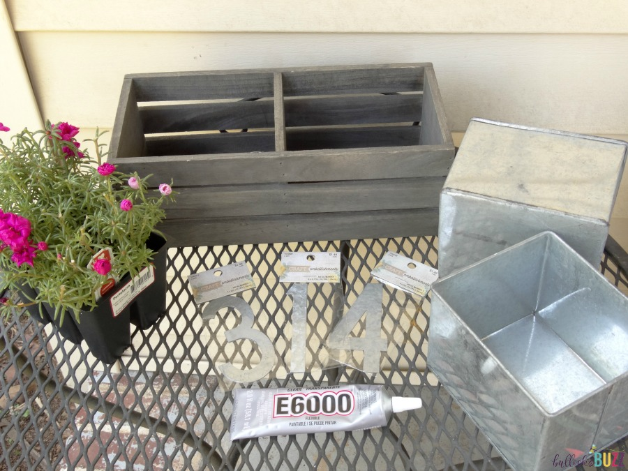 DIY House number Planter supplies