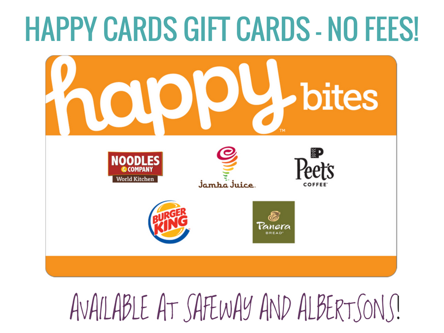HAPPY CARDS GIFT CARDS - NO FEES! Happy Bites