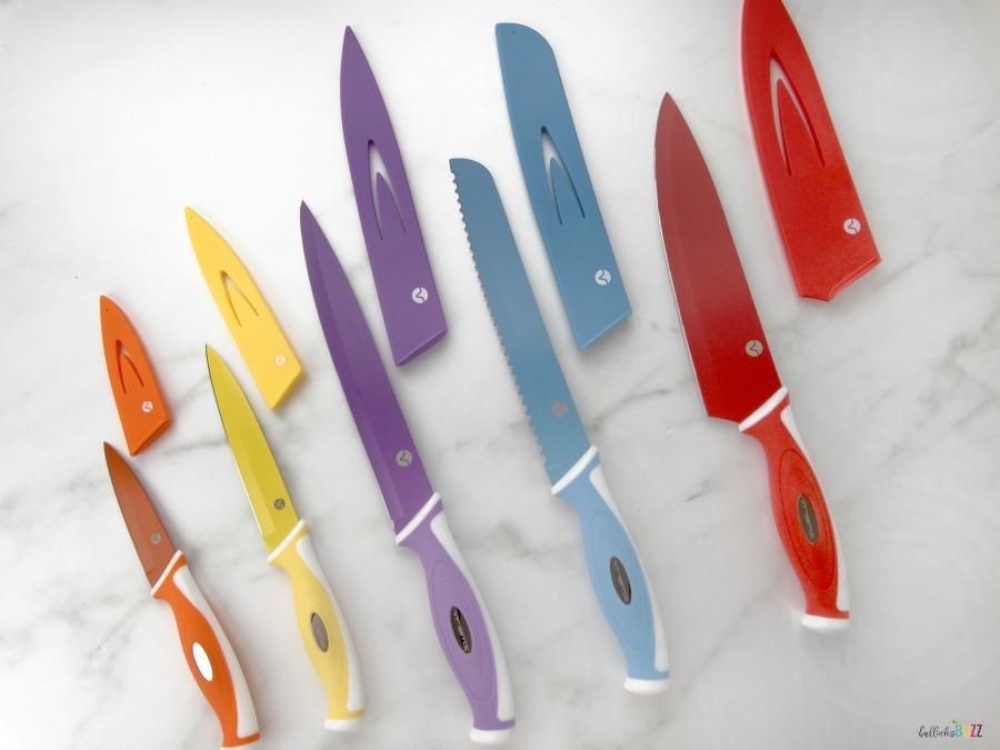 Vremi 10 piece knife set with sheaths