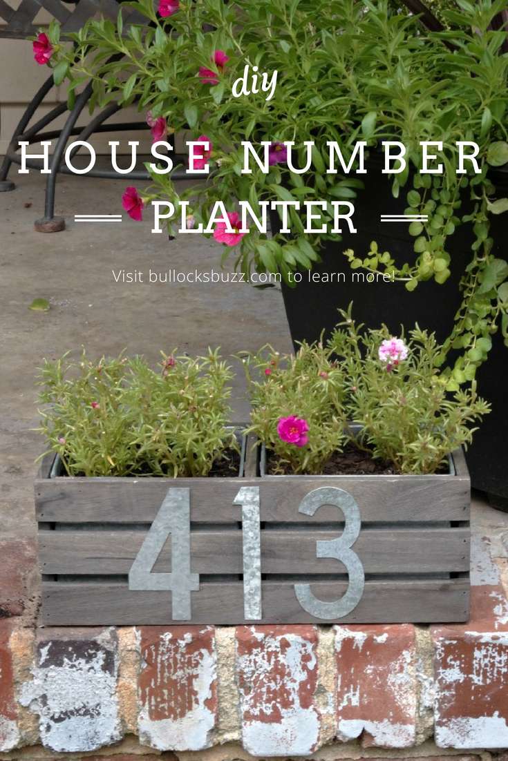 Why settle for a regular house number when you can make something much more creative like this unique DIY House Number Planter! This adorable address planter box is a fun and chic way to display your home address. It's easily mountable, and includes a little planter to add a splash of color.