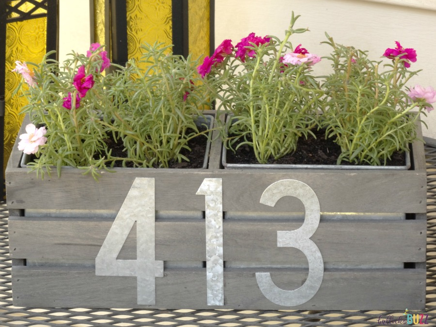diy house number planter rustic farmhouse style address planter