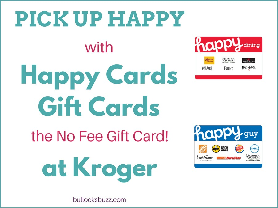 Happy Cards Gift Cards the no fee gift card at select Kroger stores