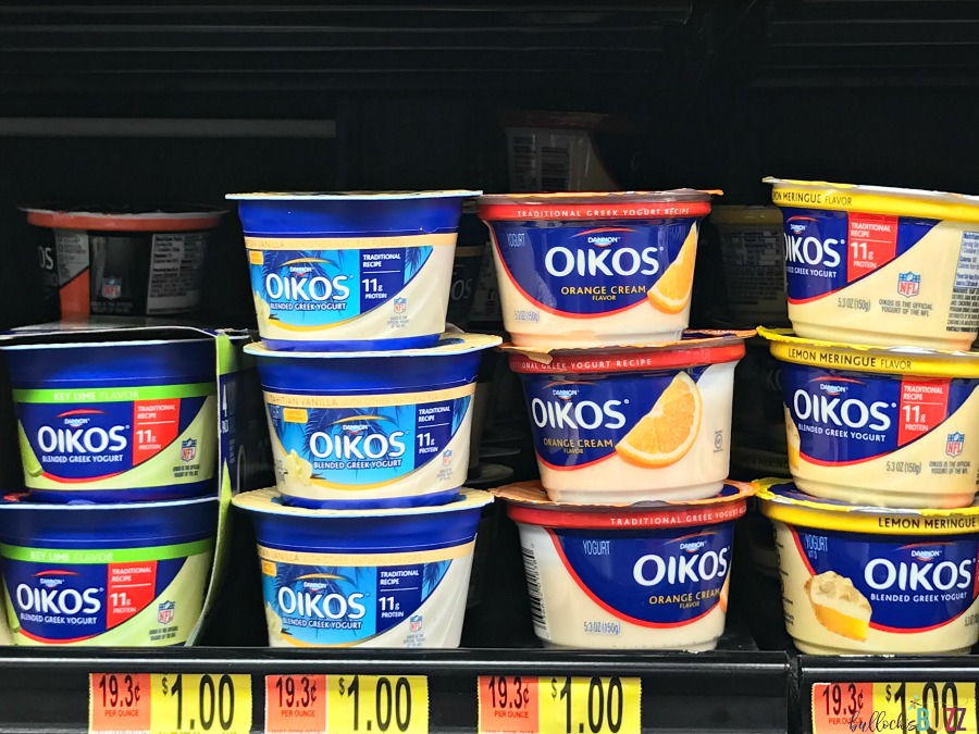 No-Bake Lemon Meringue Pie cups made with Oikos greek yogurt