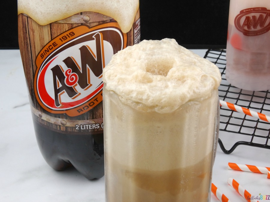 Salted Caramel Root Beer Float add root beer