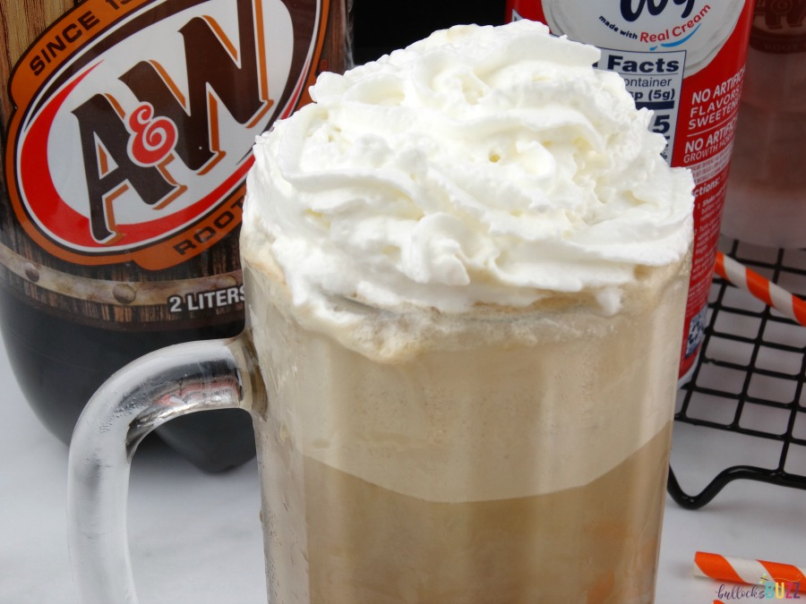 Salted Caramel Root Beer Float add whipped cream on top