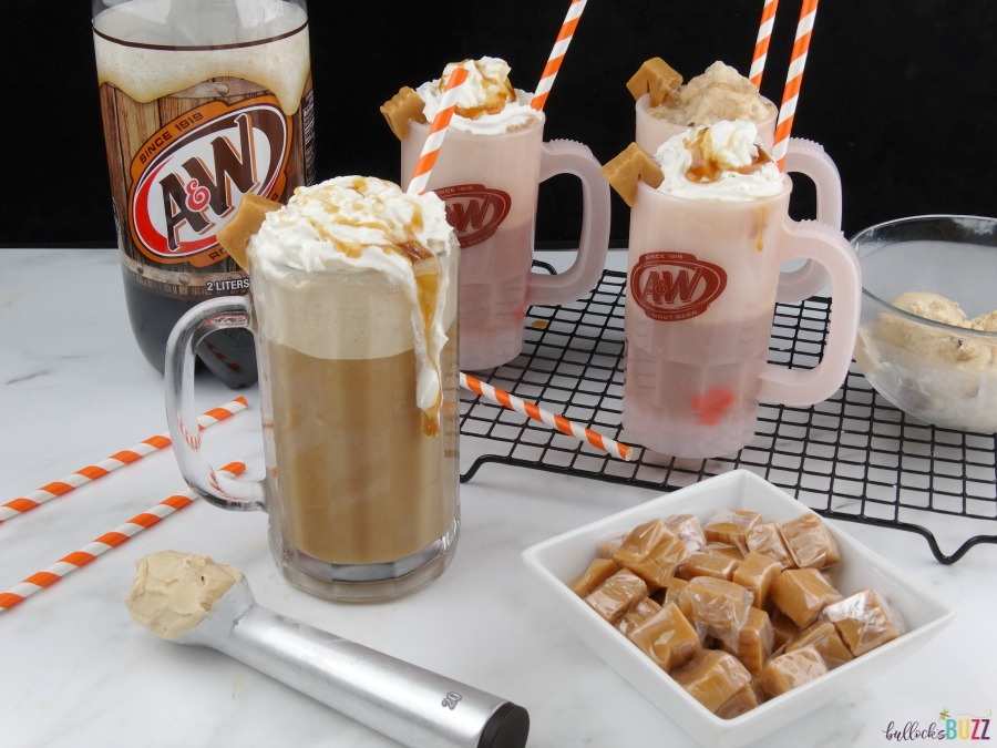 Salted Caramel Root Beer Float with A&W