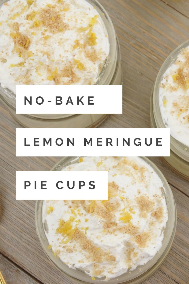 Rich and creamy lemon meringue greek yogurt layered together with sweet whipped cream and crunchy graham cracker crumbs make these No-Bake Lemon Meringue Pie Cups a simple, delicious and guilt-free treat.