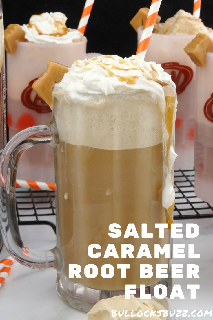 Salted caramel ice cream and buttery caramel sauce makes this Salted Caramel Root Beer Float a tasty twist on the classic icy treat.