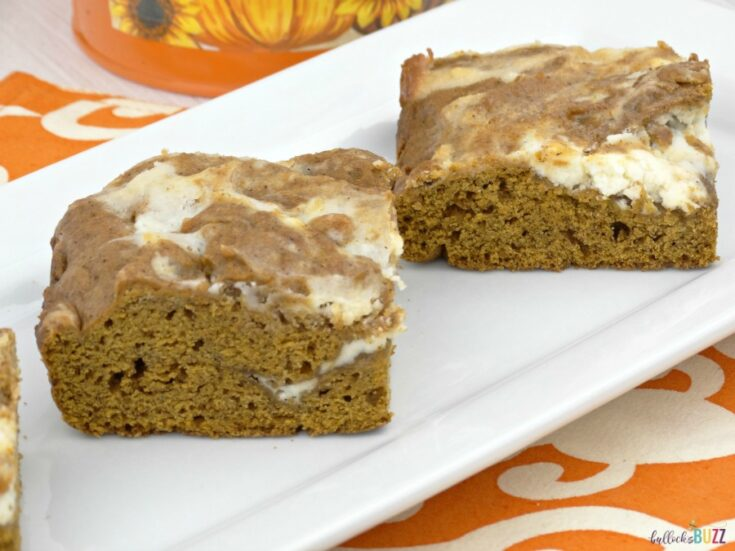 Swirled Pumpkin Spice Bars with Cream Cheese Frosting